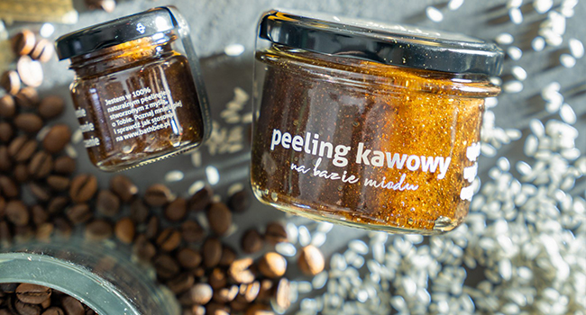 Kawa – 100% naturalny peeling miodowy